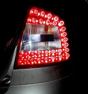 Фонари диодные LED Skoda Octavia A5 FL комплект