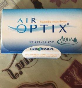 Линзы контактные air optix Aque -5,75