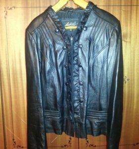 Куртка кожаная р 48