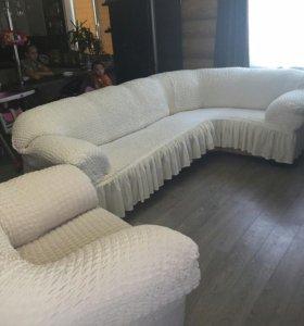 Натяжные чехлы на мягкую мебель Турция