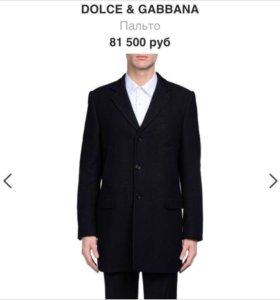 Пальто DOLCE&GABBANA мужское