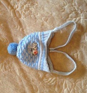 Зимняя шапочка для новорожденного. Торг