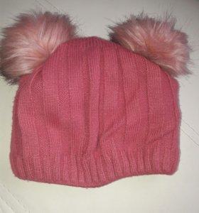 Зимняя шапка на 9-10лет