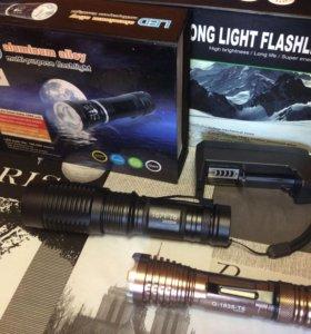 Сверхяркие фонарь с T6 светодиодом.