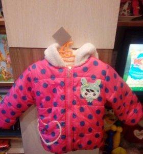 Kуртка на девочку (1-2 года) весна/осень