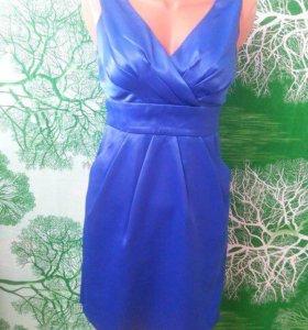 Синее платье )
