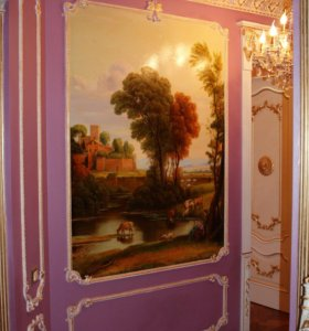 Роспись стен, картины, золочение.