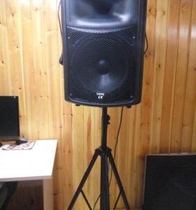 Барабанная установка+колонка со стойкой для нот