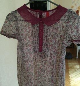 Блузка шифоновая, 40-42 размер