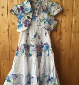 Платье-сарафан с болеро 122