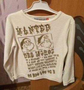 Вельветовая футболка с рукавами