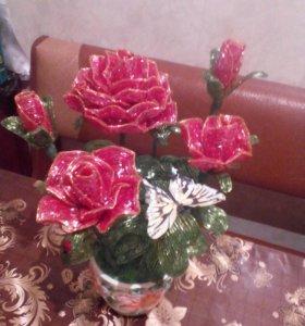 Красота которая никогда не завянет!Цветы из бисера