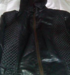 Куртка кожа зам на тонкой подкладке.