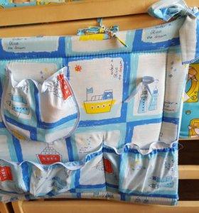 Кармашки для детской кроватки