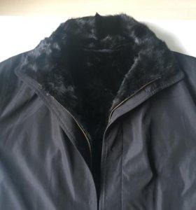 Мужская куртка с норковой подкладкой