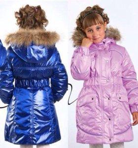 Зимняя куртка с мехом енота