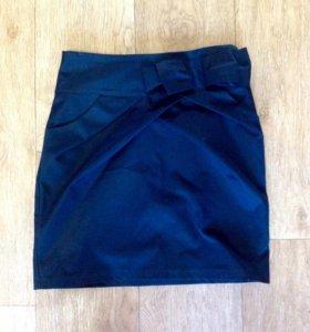 Темно-синяя юбка для девочки
