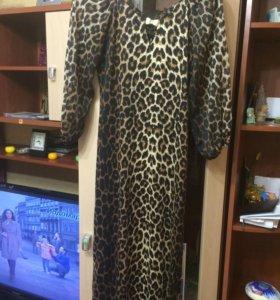 Платье в пол тигровое