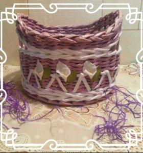 Плетеная корзиночка