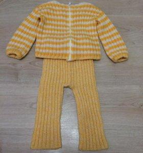 Шерстяной костюм. Размер 86-92.