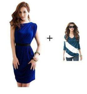 Комплект платье+блуза