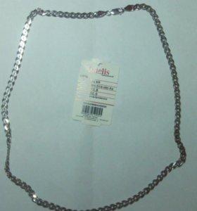 Цепочка, родированное серебро 925, новая