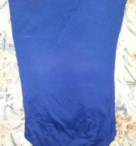 Платье трикотаж 42-44 синее