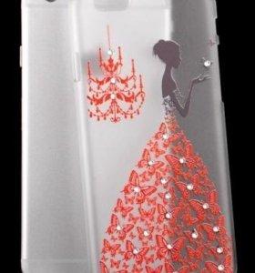 Чехол женский со стразами для Iphone 6