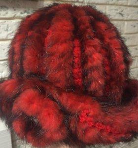 Шапка из вязаной норки (М-н Ласка)