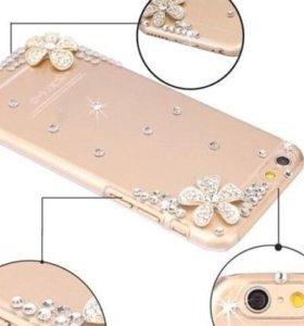 Женский чехол со стразами для Iphone 6