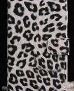 Леопардовый чехол бумажник для Iphone 6