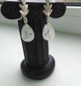 Сережки из натурального камня