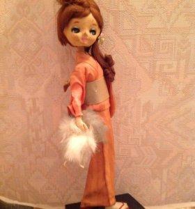 Антикварная редкая Кукла Гейша, Япония