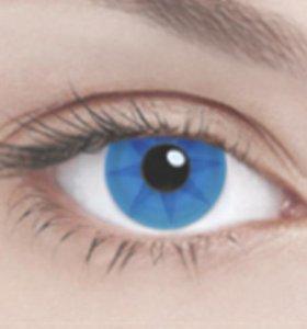 Голубые линзы Blue Wheel