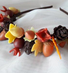 Ободок осенний Handmade