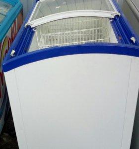 Морозильный ларь с гн.стекло