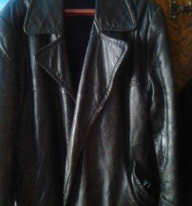 Куртка натуральная кожа раритет размер 56 байкеру
