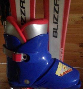 Ботинки горнолыжные лыжи палки