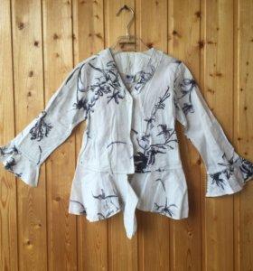 Нарядная блузка девочке 110