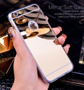 Зеркальный чехол для Iphone 6 plus