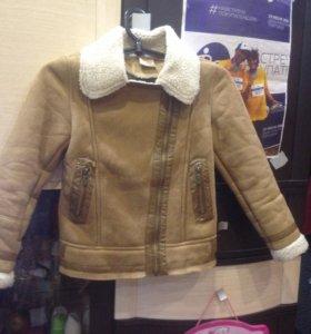 Куртка под дубленку 146 размер