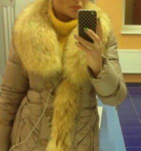 Куртка пуховик мех лиса шуба