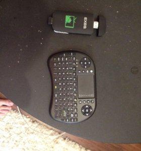 EXEO андроид мини ПК с беспроводной клавиатурой