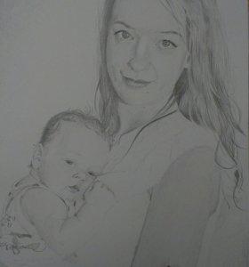 Лучший подарок- рисованный портрет