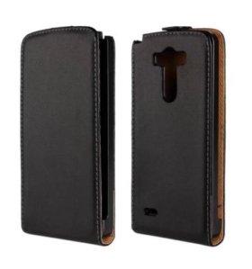 Кожаный откидной чехол для LG G3