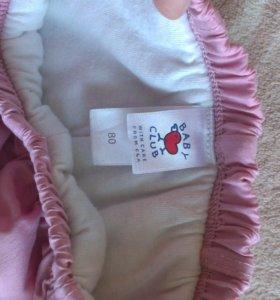 Детские утепленные штаны 80