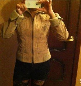Замшевая натуральная куртка 42-44