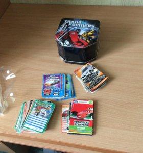 Детские игральные карточки с кейсом