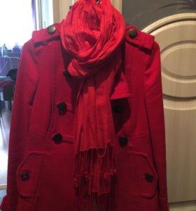 Пальто +шарф