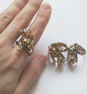 Массивное кольцо Леопард